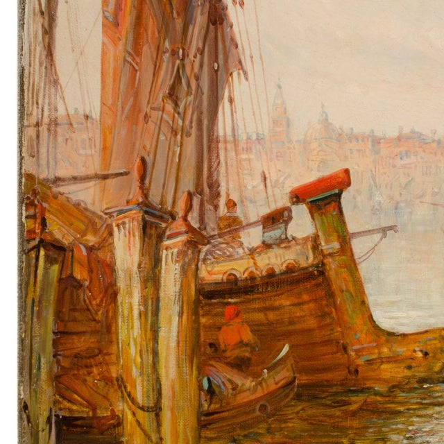 "Canvas 19th Century ""Venice in July"" Cityscape Oil Painting by Alfred Pollentine For Sale - Image 7 of 12"
