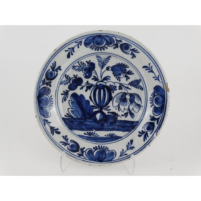 18th Century Dutch Delft Plate - Image 2 of 7