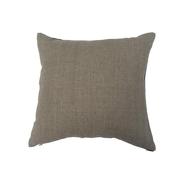 Vintage Grey Tye Dye Mud Cloth Pillow - Image 4 of 4