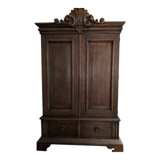 Ralph Lauren Mahogany Armoire For Sale