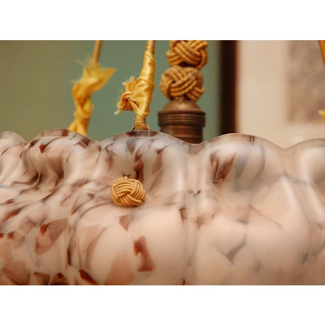 European Glass Bowl Pendant Fixture - Image 8 of 9