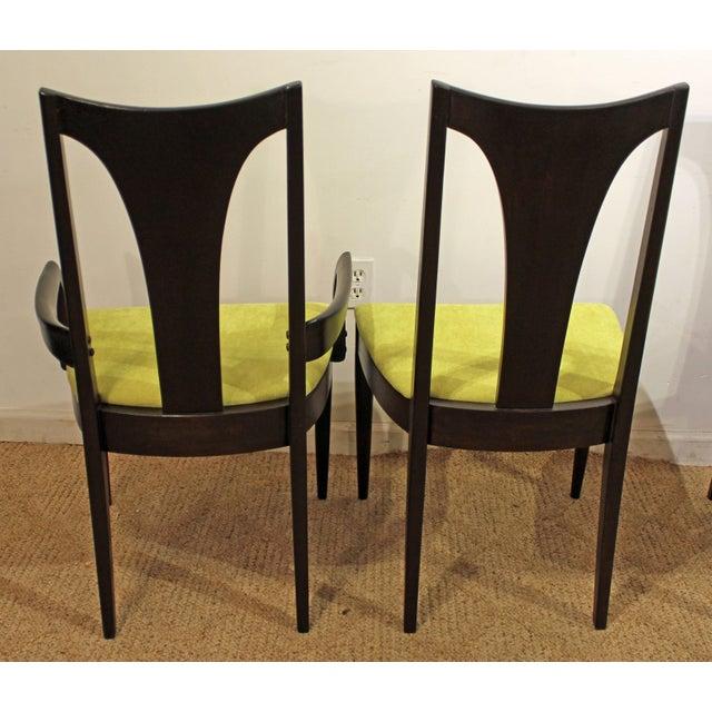 Danish Modern Mid-Century Danish Modern Brasilia Dark Walnut Dining Chairs #5 - Set of 6 For Sale - Image 3 of 11