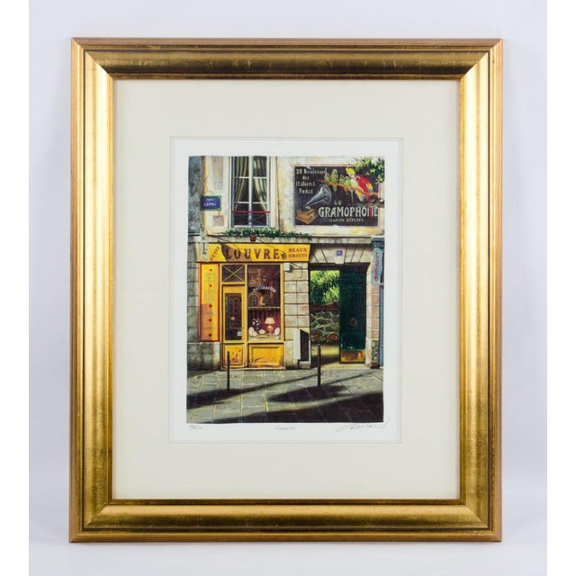 """1990's Vintage """"Louvre"""" Edition 196/550 Seri-Lithograph by Louis Robichaud For Sale - Image 13 of 13"""