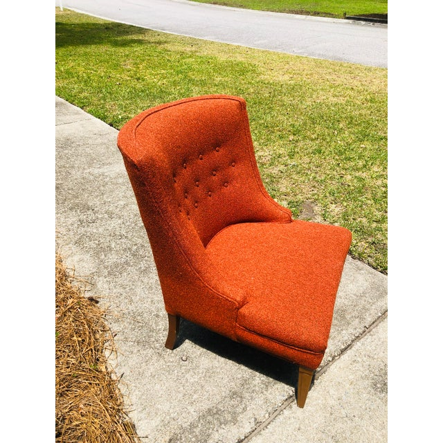 Wood Mid-Century Modern Burnt Orange Chairs - a Pair For Sale - Image 7 of 13