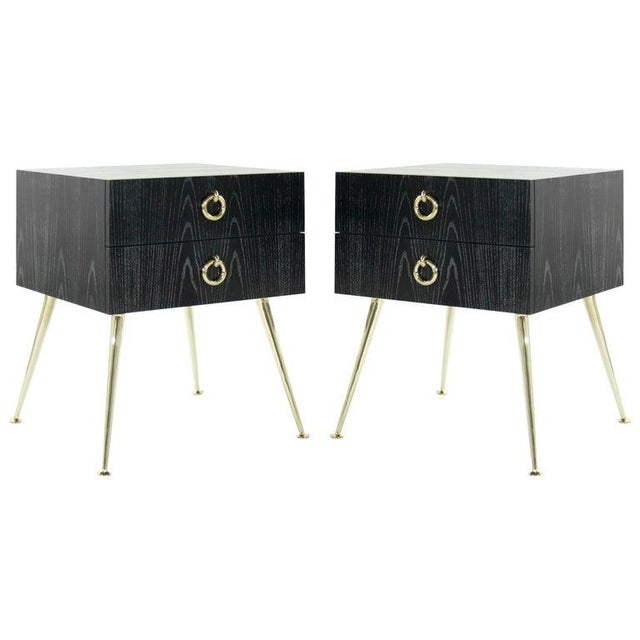 Gibby Collection End Tables in Limed Oak For Sale - Image 13 of 13