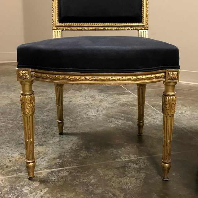 19th Century French Louis XVI Giltwood Chairs - a Pair For Sale - Image 10 of 13