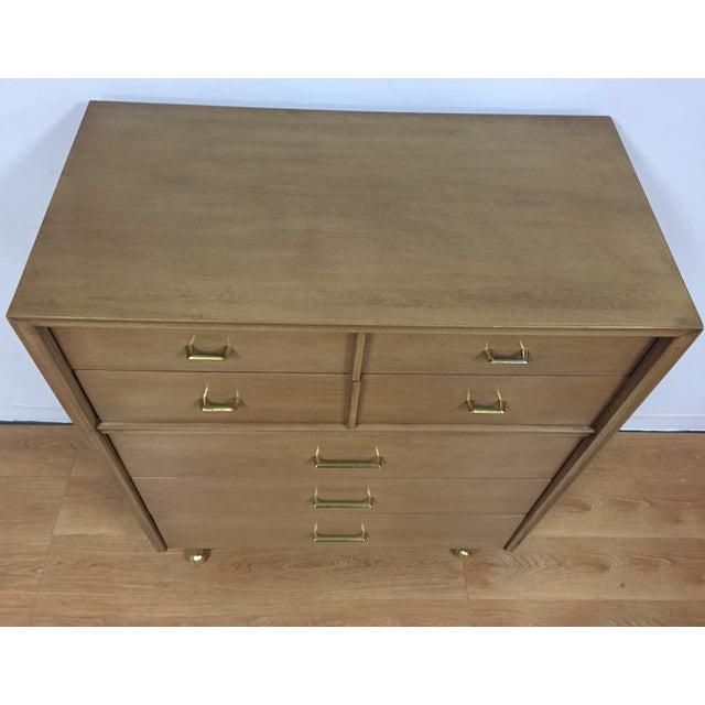 Kent Coffey Vintage Mahogany & Brass Tall Dresser - Image 5 of 9