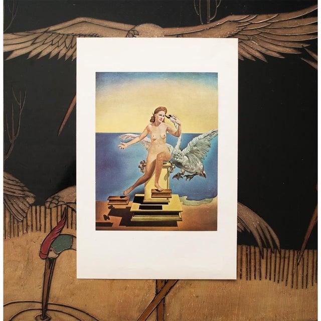 "French 1957 Salvador Dalí ""Leda Atomica"" Period Vintage Lithograph Print For Sale - Image 3 of 9"