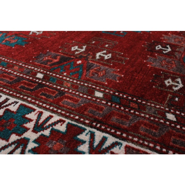 """Finest Khal Mohammadi Red Afghan Rug - 4'6"""" X 6'4"""" - Image 2 of 2"""