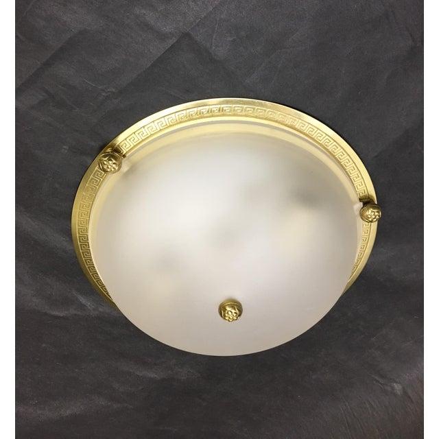 Vaughan Regency Style Brass Greek Key Flush Mount For Sale In Washington DC - Image 6 of 6
