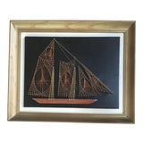 Image of Mid Century Wire Art Schooner For Sale