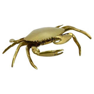 Solid Brass Crab Box For Sale