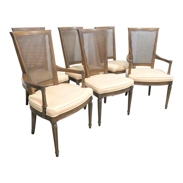 c454999eb2780 Henredon Louis XVI Style Walnut Dining Chairs- Set of 6 For Sale