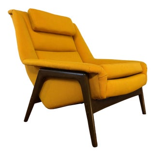 Dux Folke Ohlsson Mid Century Large Lounge Chair - Newly Reupholstered For Sale
