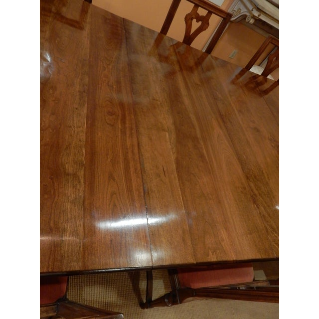 19th Century French Walnut Extension Dining Table For Sale - Image 5 of 12