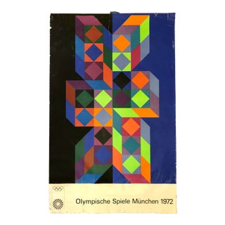 Victor Vasarely Signed Olympic 1972 Poster For Sale