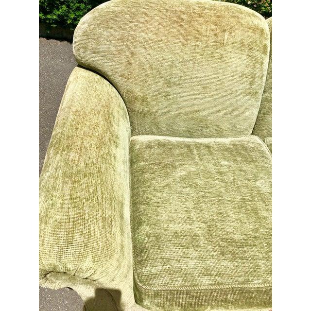 1990s Vintage Edward Ferrell Green Fringe Sofa For Sale In New York - Image 6 of 13
