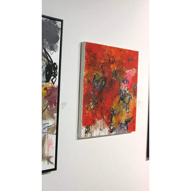 "Contemporary Abstract French Painting ""Red Grass River"" by Nadine Bourgne For Sale In West Palm - Image 6 of 7"