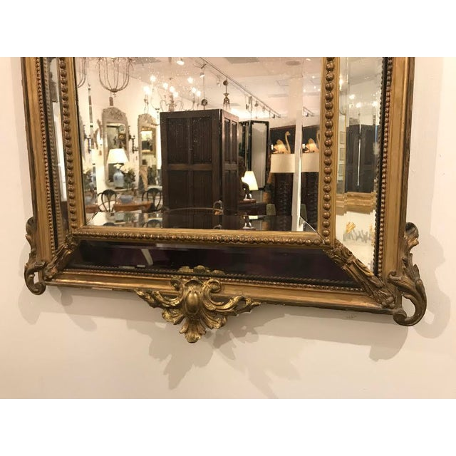 Hollywood Regency Antique Régence Style Pareclose Mirror For Sale - Image 3 of 8
