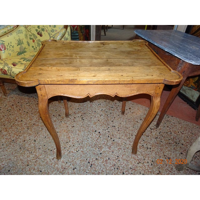 Mid 19th Century French Oak Side Table For Sale - Image 11 of 11