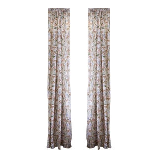 "Pepper Frida Pink 50"" x 84"" Curtains - 2 Panels For Sale"