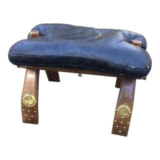 Vintage Mid Century Egyptian Camel Saddle Stool For Sale