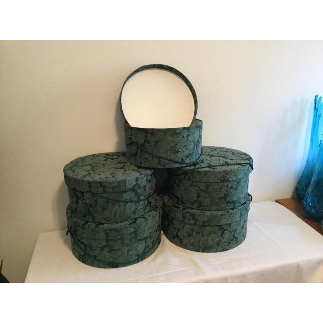 Vintage Fabric Covered Hat Boxes For Sale In Columbia, SC - Image 6 of 12