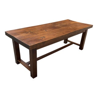 19th Century French Louis Philippe Period Oak Farm Table or Monastery Table. For Sale