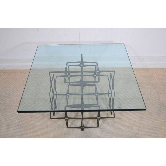 Vintage Trimark Mid Century Modern Nail Brutalist Coffee Table Green Paul Evans Styl - Image 2 of 12