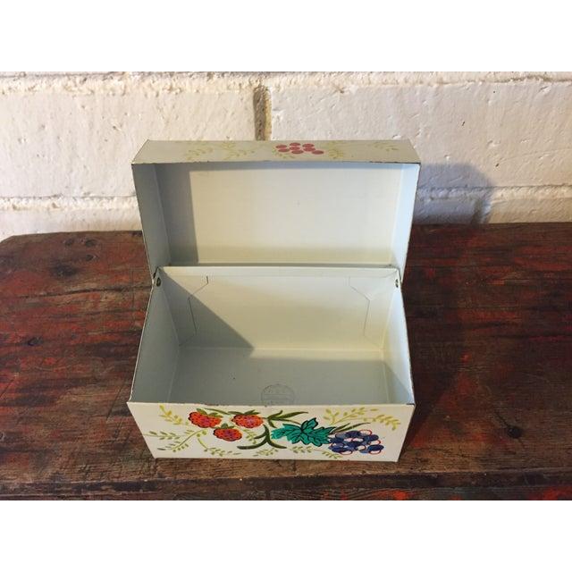 Tin Recipe Box With Fruit - Image 8 of 9