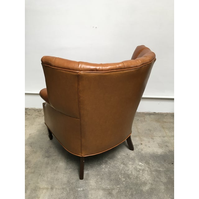 1940s Unique Channel Back Bucket Wing Chair For Sale In Los Angeles - Image 6 of 13