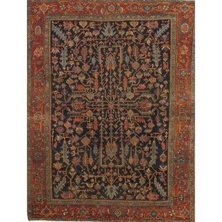 "Antique Persian Heriz Lambs Wool Rug - 8'4"" X 11' For Sale"