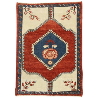 20th Century Turkish Oushak Rug With Jacobean Style - 2′7″ × 6′1″ For Sale