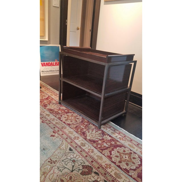 Industrial Side Tables With Trays - A Pair - Image 2 of 5