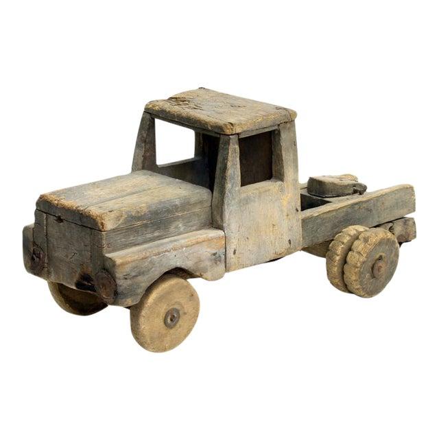 Vintage Handmade Wood Truck Folk Toy - Image 1 of 5