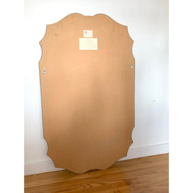 Friedman Brothers Final Markdown 1980s Vintage Friedman Brothers Tall Carved Silver Leaf and Gilt Wood Wall Mirror For Sale - Image 4 of 7