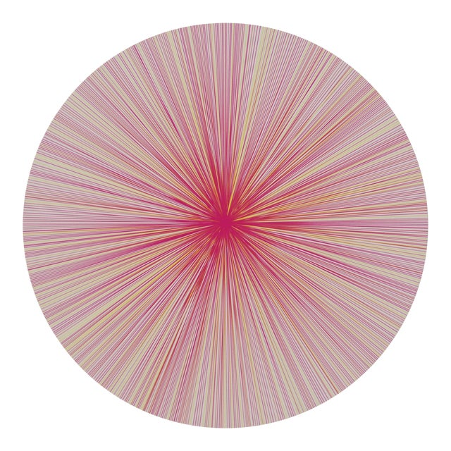 Lines Placemat in Pink Multi For Sale