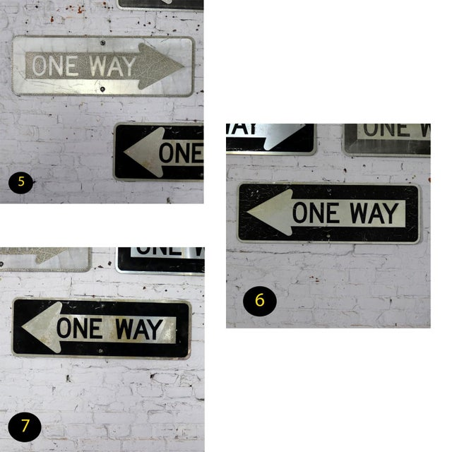 Vintage Metal One Way Arrow Signs For Sale - Image 12 of 13
