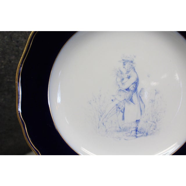 Traditional Meissen Cobalt Plates For Sale - Image 3 of 9