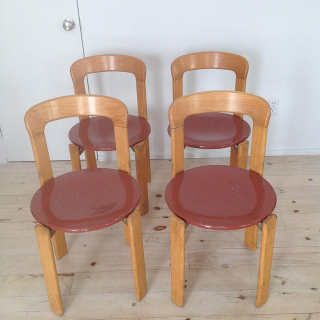 Wood Swiss Co. Dieteker Bruno Rey Stacking Chair For Sale - Image 7 of 7