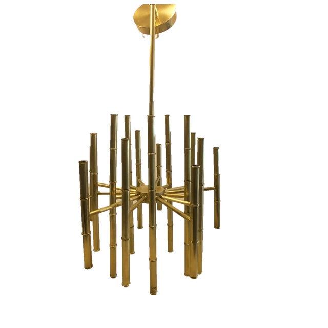 Jonathan Adler Meurice Brass Chandelier - Image 1 of 6