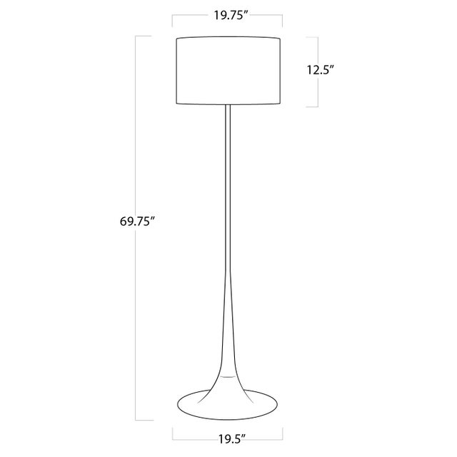 Not Yet Made - Made To Order Trilogy Floor Lamp in White For Sale - Image 5 of 6