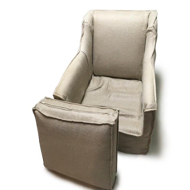 2010s Natural Hemp Slipper Chair For Sale - Image 5 of 7