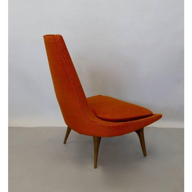 1960s Original Condition Karpen of California Tall Back Lounge Chair For Sale - Image 5 of 9
