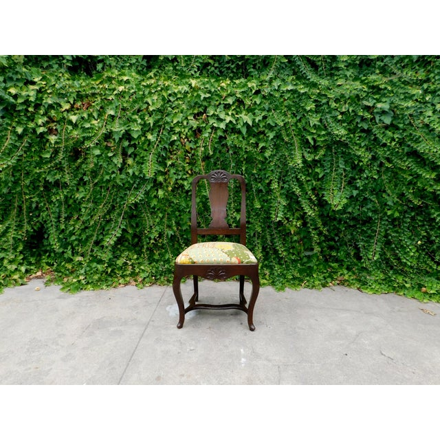 Early 1900s Botanical Cactus Vanity Chair For Sale - Image 9 of 10