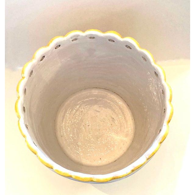 Ceramic 1960s Italian Glazed Terra Cotta Planter For Sale - Image 7 of 11
