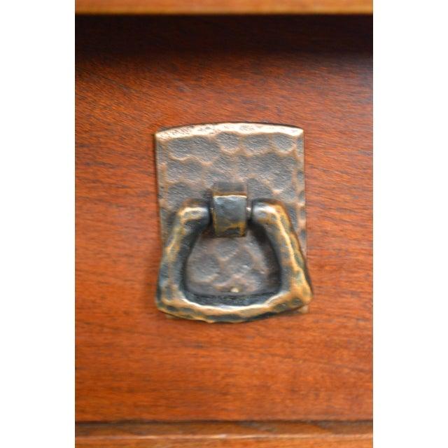 Stickley Solid Cherry Corner Desk w/ Bookcase Top For Sale - Image 5 of 10