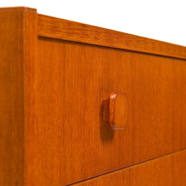 Vintage Danish Mid-Century Teak Four Drawer Dresser For Sale In San Francisco - Image 6 of 9