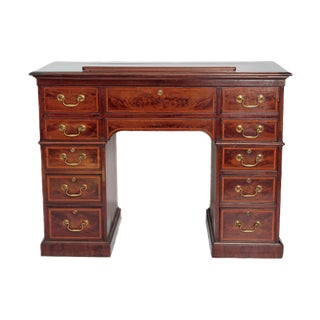George III Mahogany Gentlemen's Library / Writing Table of Ingenious Design For Sale