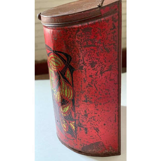 1920s Large French Country Store Coffee Tin For Sale In Boston - Image 6 of 11
